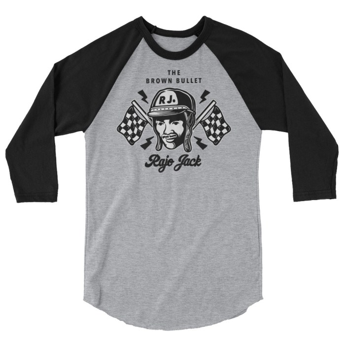Rajo Jack First Black Race Car Drivers Raglan Shirt
