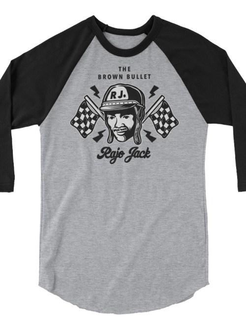 Rajo Jack First Black Race Car Drivers Raglan Shirt
