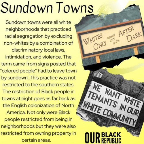 The Dark History of The United States: Sundown Towns