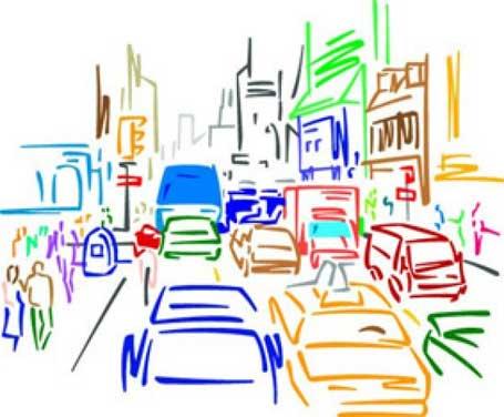 Ilustração jovens vítimas de trânsito