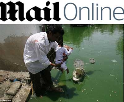 crocodilo faminto e bebê
