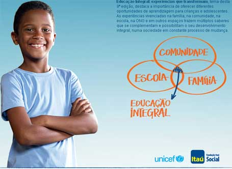 Prêmio Itaú-Unicef:180 mil para Experiências que transformam