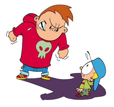 Ilustração bullying, violência infantil