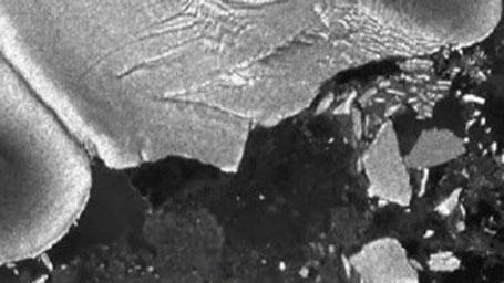 Bloco de gelo derrubado pelo Tsunami no Japão
