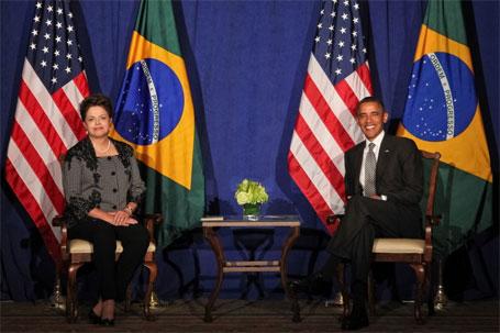 Foto de Dilma Rousseff com Barack Obama, importância das redes sociais