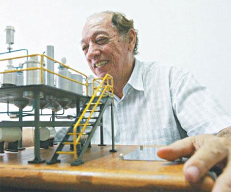Foto de Expedito Parente, o pai do biodiesel