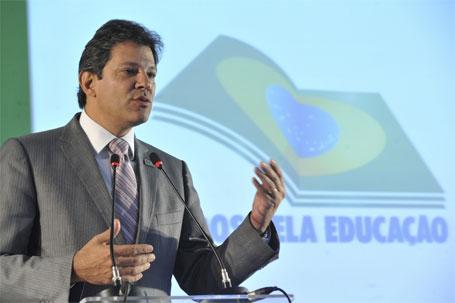 Foto do ministro Fernando Haddad