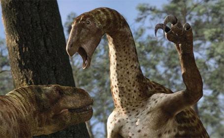 Imagem do Nothronychus, o dinossauro barrigudo com fama de feroz