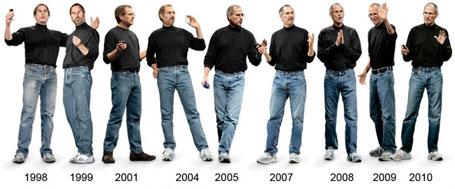Fotos curiosas Steve Jobs vestindo camisas prestas