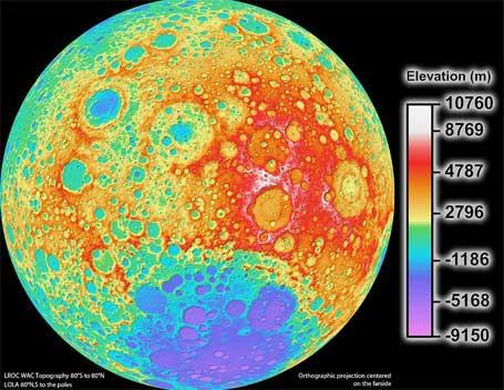 Foto do melhor mapa da lua em alta resolução