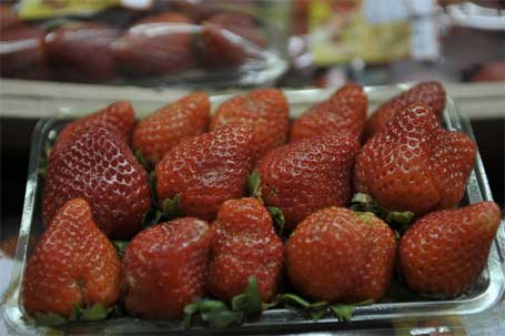 Foto de morangos, segundo lugar entre os alimentos com mais veneno