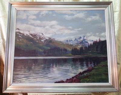 Pejzaż górski – Willy Nielson – Cenny Aukcyjny Obraz