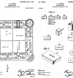 the landlord s game proto monopoly patent drawing [ 1000 x 816 Pixel ]