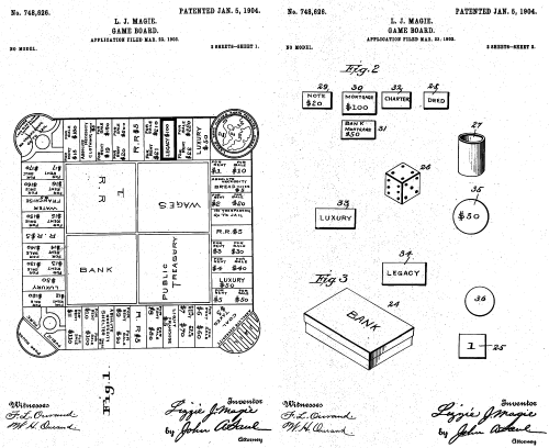 small resolution of the landlord s game proto monopoly patent drawing