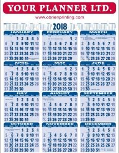 Wall chart also year to view wallchart calendar obrien diaries rh obrienprinting
