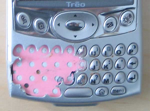 Destroyed Treo 600