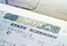 Photo d'un visa Schengen