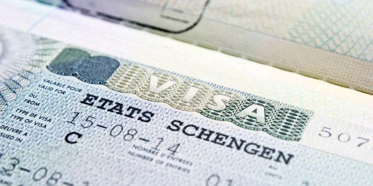 Photo d'un visa Schengen
