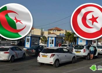 Montage : passage au poste frontalier terrestre entre l'Algérie et la Tunisie