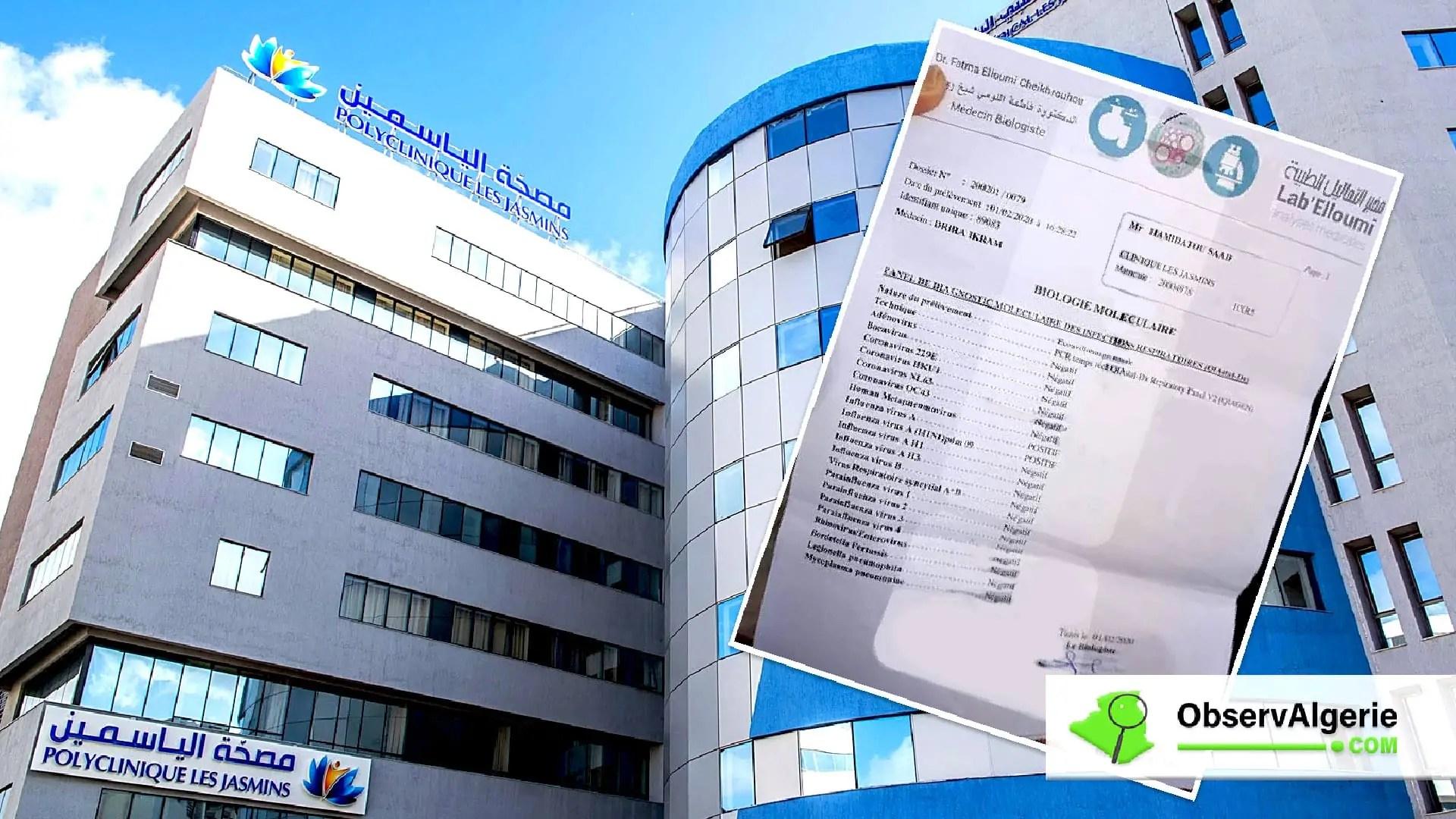 Algérien mort de la grippe à Tunis : Les précisions de la clinique Les Jasmins