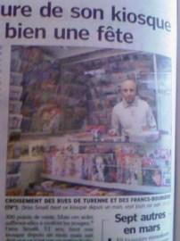 le kiosquier dans l'article du Parisien du 2 mars