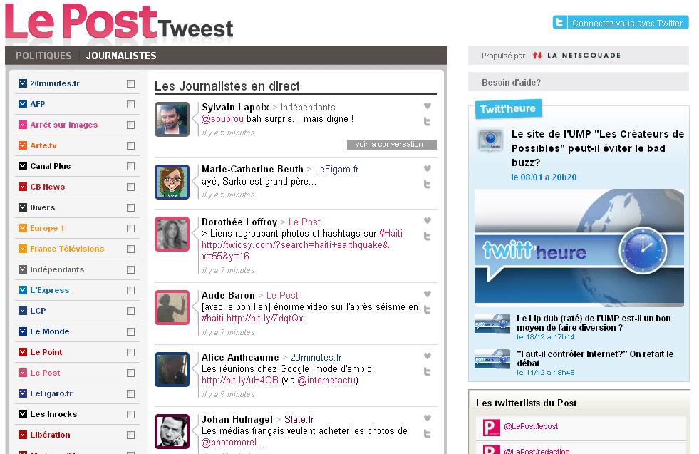 tweest-journalistes