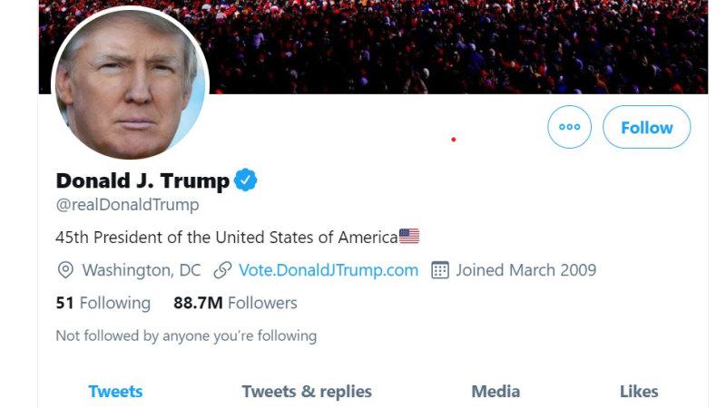 Je peux avoir accès aux anciens tweets de Donald Trump
