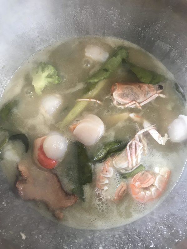 nage de homard