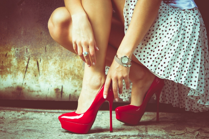 Red pump shoes quiz fashionista