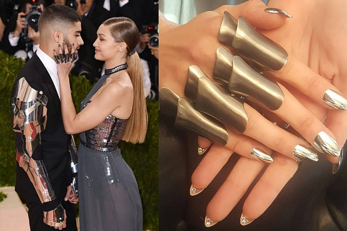 Gigi hadid beauty trend mirror nails