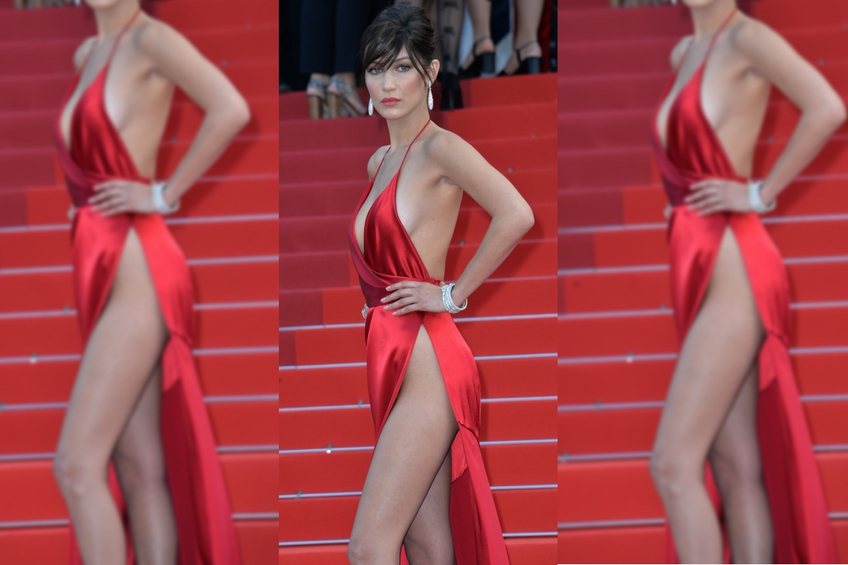 Crotch baring dresses fashion trends faux pas bella hadid