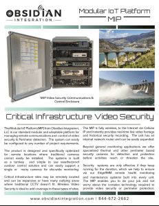 Critical Infrastructure Video Security Download