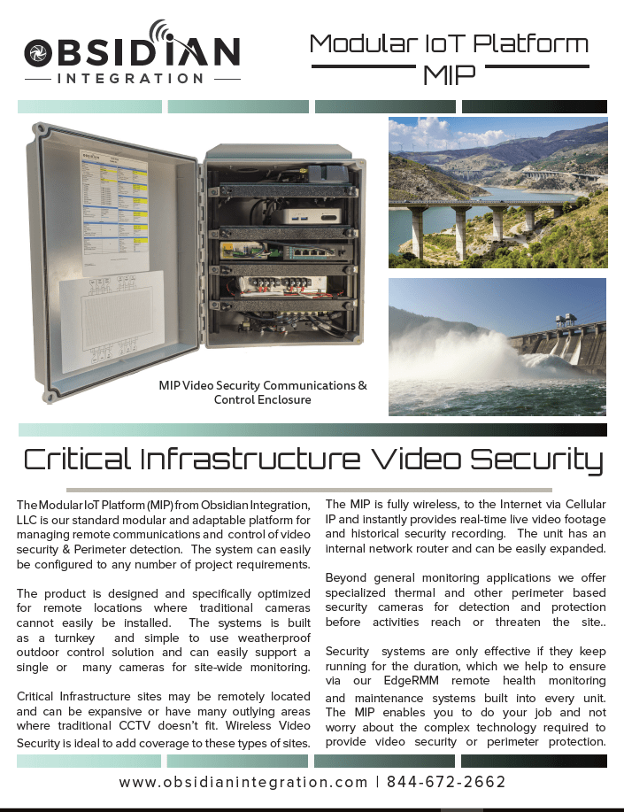 Wireless Sub Station Dams Security Camera