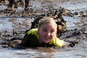 Mud run kid