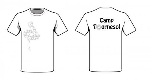 Camp Tournesol (picture and logo front and back)