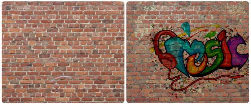 vieillissement d'un mur avant-après