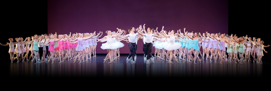 The students of the School of Oregon Ballet Theatre perform A Grand Etude | Photo by James McGrew