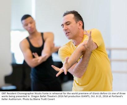 Oregon Ballet Theatre,studio rehearsals
