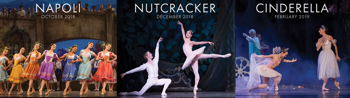 OBT's Family Package includes Napoli, Nutcracker and Cinderella