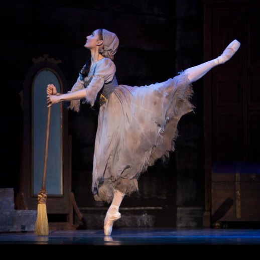 "OBT soloist Eva Burton in Ben Stevenson's ""Cinderella,"" running February 16 - 23, 2019, at Portland's Keller Auditorium. Photo by James McGrew."