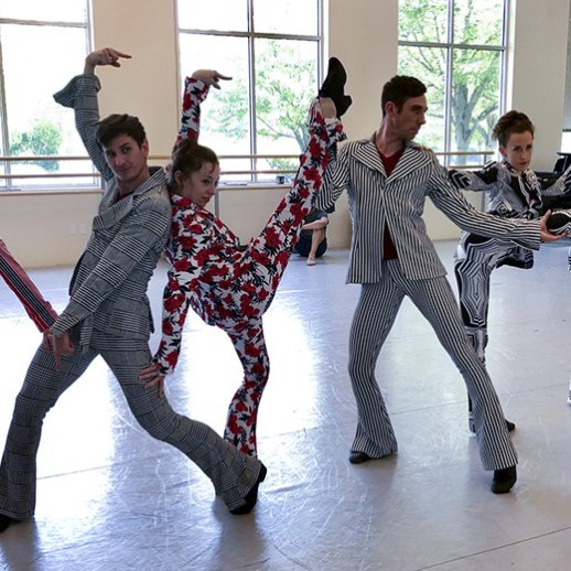 Fun behind the scenes as OBT dancers try on their Big Shoes costumes. Big Shoes is a world premiere choreographed by Jamey Hampton and Ashley Roland.