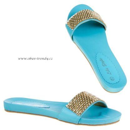 pantofle dámské modré vel.40