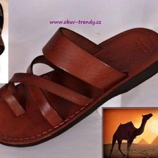 ručně šite kožené sandály Narmer
