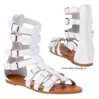 bílé sandály dámské gladiátorky