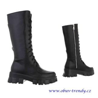 černé boty vysoká platforma