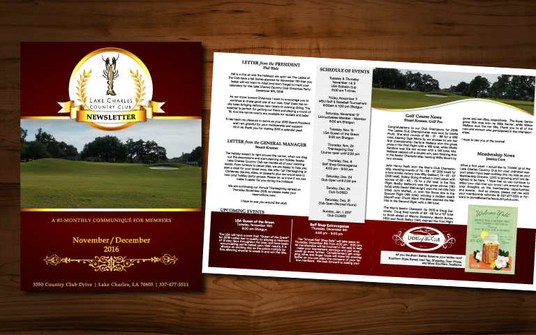 Lake Charles Country Club Newsletter