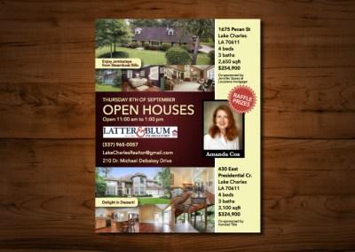 Amanda Cox Realty Open House Flyer