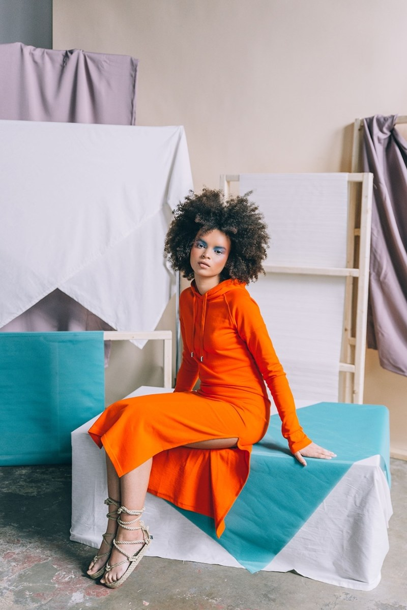 Lovello Elizabeth - Slit Dress Orange