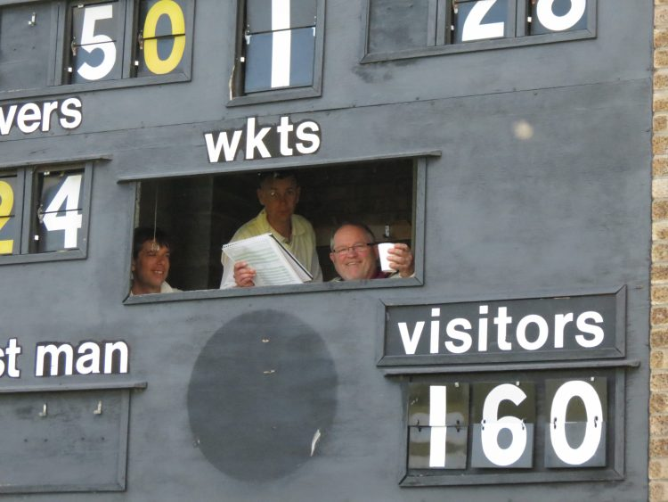 Looking into the old scorebox