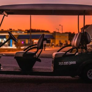 Side View of 6 Person Golf Cart OBX - Product 1